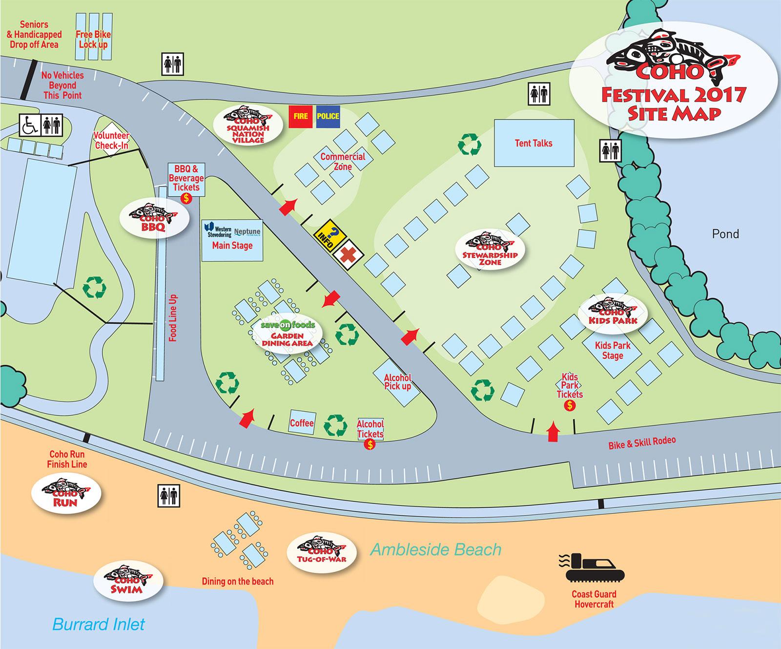 Coho Festival 2017 Map